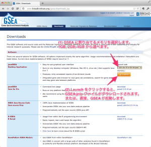 GSEAのダウンロード画面。