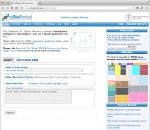 cBioPortal のサイト。