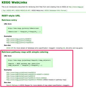 KEGG WebLinks の書式。